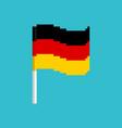 pixel flag germany pixelated banner german vector image vector image