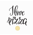 Pizzeria promotion motivation advertising vector image
