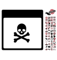Poison Skull Calendar Page Flat Icon With vector image vector image