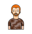 portrait man young character person cartoon vector image vector image