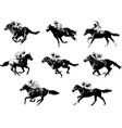 racing horses and jockeys sketch vector image vector image