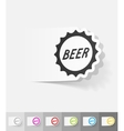 Realistic design element bottle cap vector image
