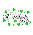 saint patricks day typographical background vector image vector image