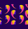 seamless pattern of female faces with gradient vector image vector image