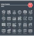 seo icon set vector image vector image