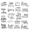set easter hand drawn lettering vector image vector image