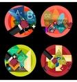 Set of flat design circle option infographics vector image