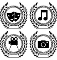 set of symbols of achievement vector image vector image