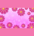 spring background with beautiful paper cut flowers vector image