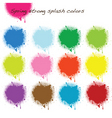spring strong splash colors vector image vector image