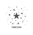 stars icon simple flat style vector image