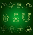 stpatrick s day set of icons vector image vector image