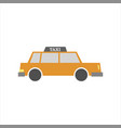taxi side view vector image