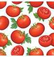 tomato background vegetable seamless pattern food vector image vector image