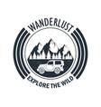 wanderlust adventure logo vector image vector image