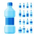 Water plastic bottle transparent mineral