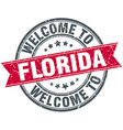 Welcome to Florida red round vintage stamp