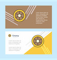 wheel abstract corporate business banner template vector image vector image
