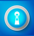white keyhole icon isolated on blue background ke vector image