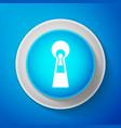 white keyhole icon isolated on blue background ke vector image vector image