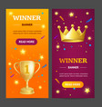 winner banner vecrtical set vector image vector image