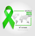 world mental health day vector image vector image