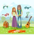 subculture hippie composition vector image