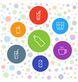 7 refreshment icons vector image vector image
