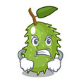 angry sweet soursop fruit in cartoon kitchen