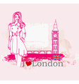 Beautiful woman in London vector image vector image