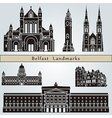 belfast landmarks and monuments vector image vector image