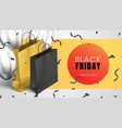 black friday sale abstract light background with vector image vector image