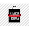 black friday sale bag background vector image