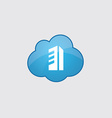 Blue cloud building icon vector image vector image