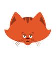 cat sad emoji pet sorrowful emotions kitty dull vector image