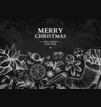 christmas holiday greeting card hand drawn vector image vector image
