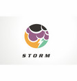 cloudy storm design symbol sign vector image