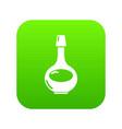 cognac icon green vector image vector image