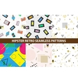 Collection of hipster retro memphis patterns vector image vector image