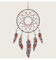 colorful dream catcher with ethnic patter vector image vector image