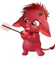 cute red devil vector image vector image