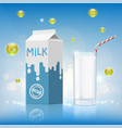 design of dairy product vector image vector image