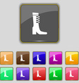 female fall and winter shoe boot icon sign Set vector image vector image