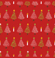 festive christmas trees candle vector image vector image