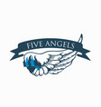 five-angels-logo vector image vector image