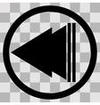 Flat black singl icon play back vector image vector image
