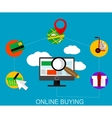Flat online shopping infographic vector image vector image