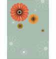 floral abstract retro background vector image vector image