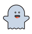 flying ghost wishes a happy halloween vector image