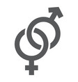gender signs glyph icon love and sex vector image vector image